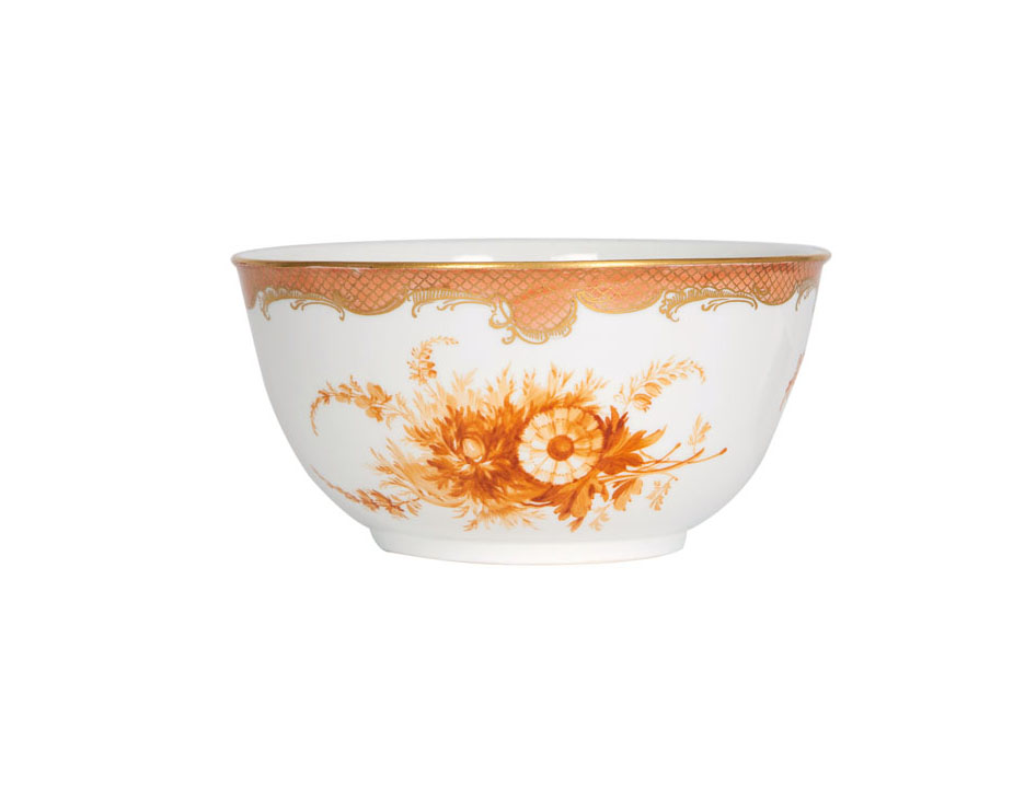 A bowl with flower painting
