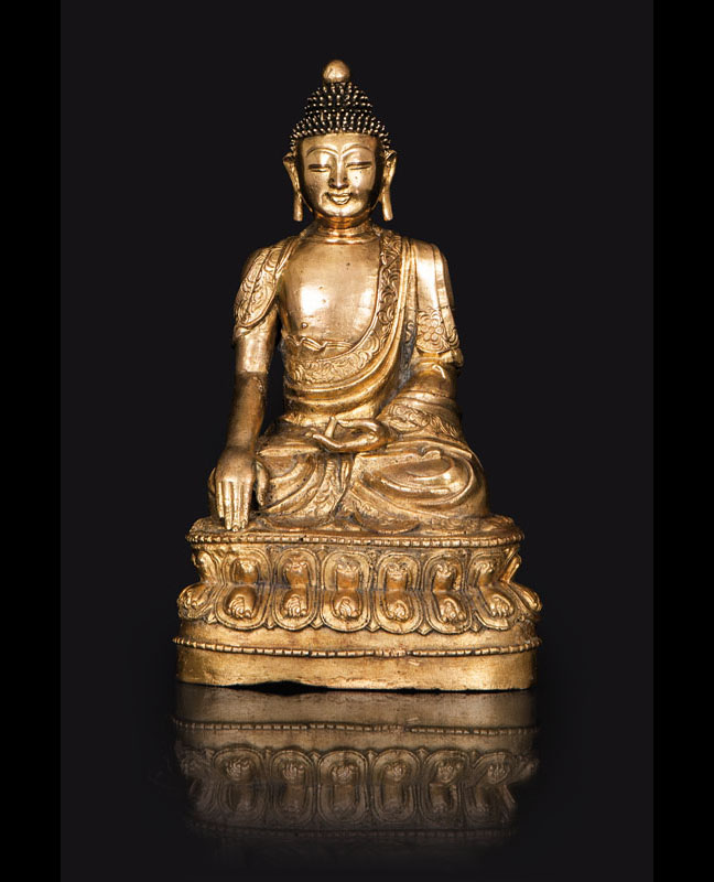 A rare and important bronze Buddha 'Shakyamuni'
