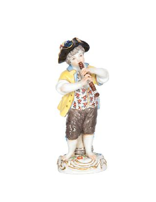 A figure 'Gardner's child with flute'