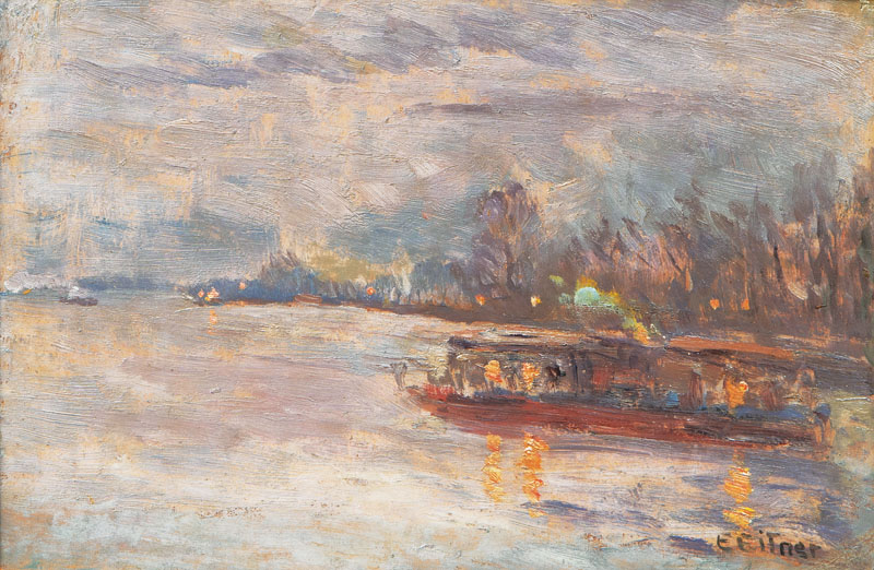 Steam Ship on the Außenalster
