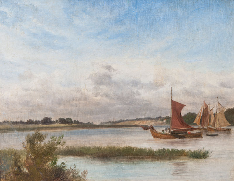 Extensive Landscape with Boats