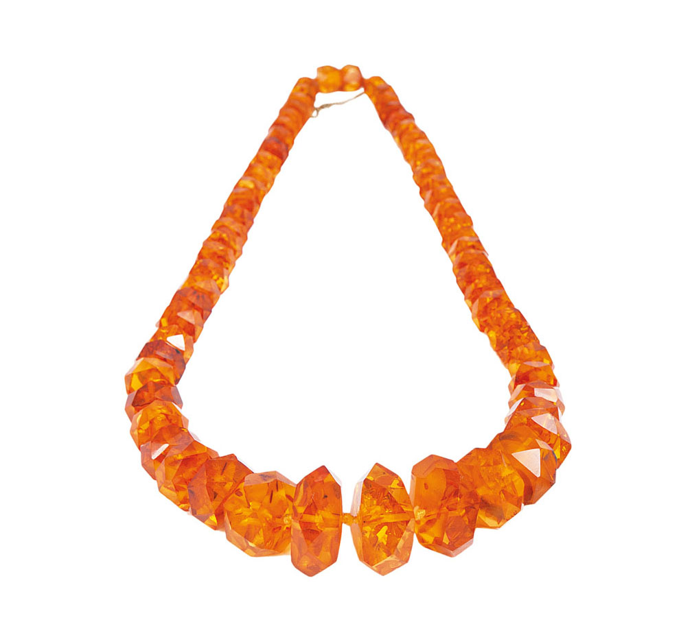 An amber necklace