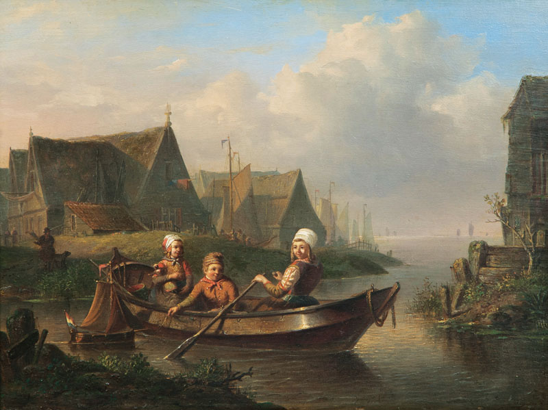 Children in a Rowing Boat
