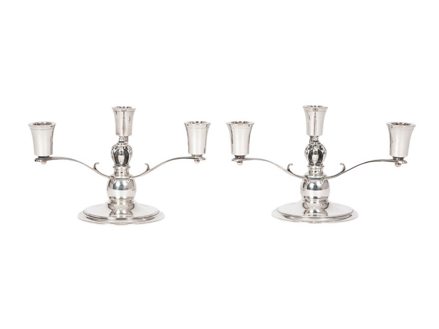 A pair of Art Deco candelabras