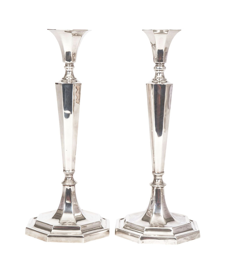 A pair of Art Deco candlesticks