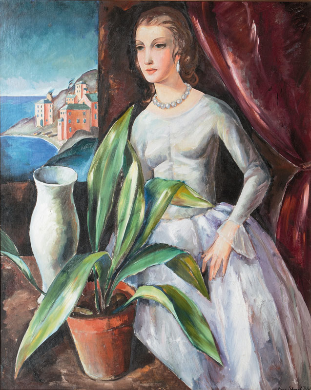 Portrait of a Lady in St. Tropez