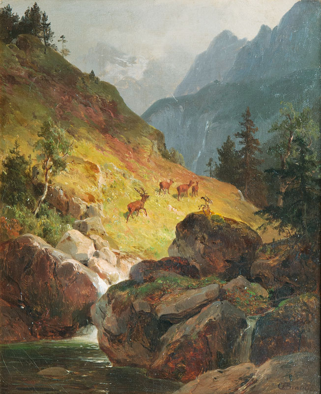 Companion Pieces: Bear and Deers in the Tyrolia Alps