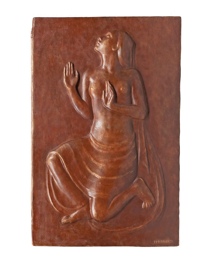 A plaster relief 'dancer'