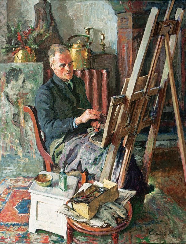 Ernst Flege at the Easel