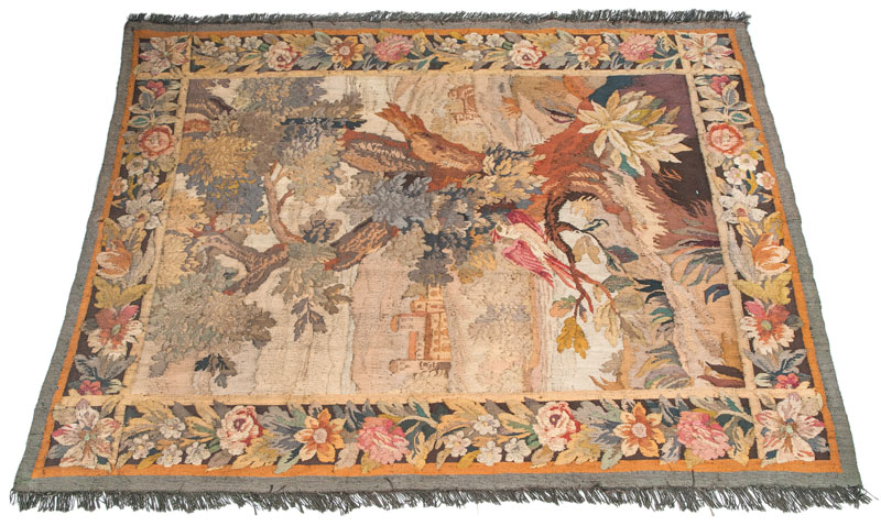 A tapestry 'Landscape with Phoenix'