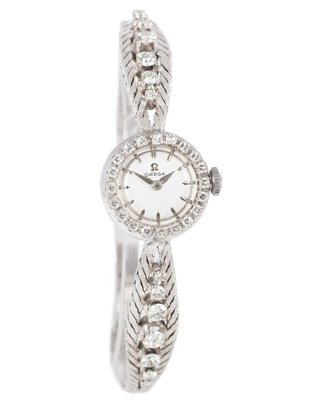 A lady's watch with diamonds by Omega