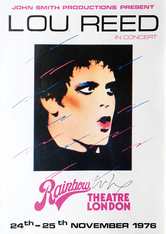 Concert Poster Lou Reed