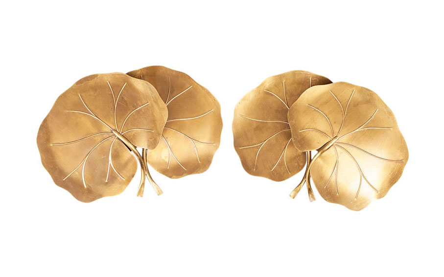 A pair of decorative wall applications 'Lotus'