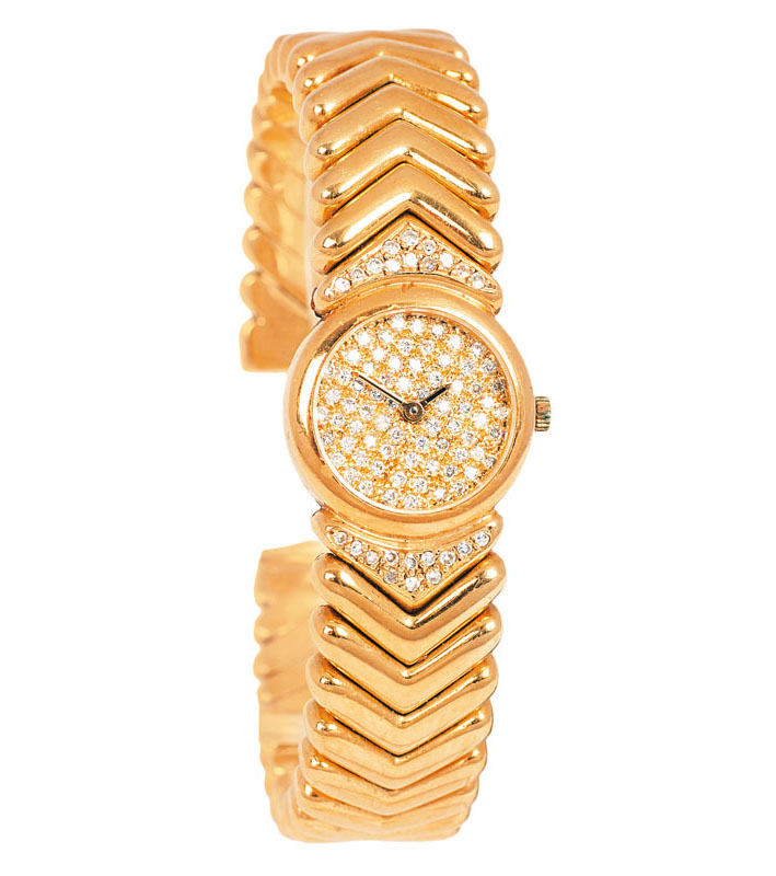 A lady's watch with diamonds