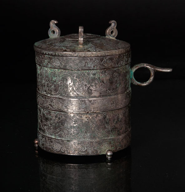 An exceptional and rare lidded cup