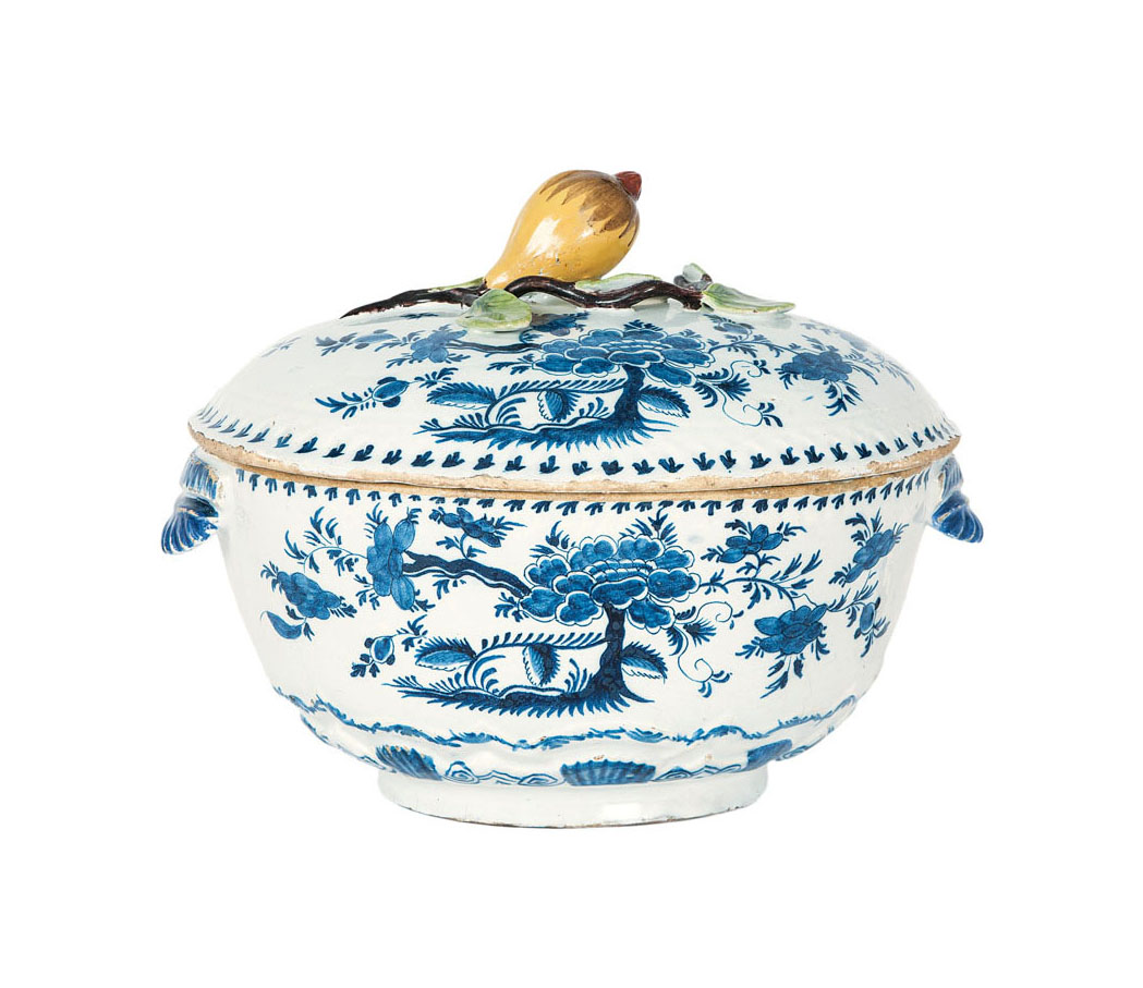 A large tureen with cover