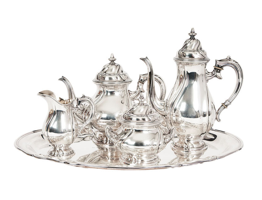 A coffee and tea service of Baroque style