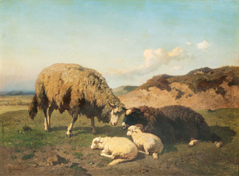 Two Sheep with Lambs