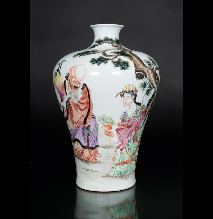 A meiping vase with Shoulao