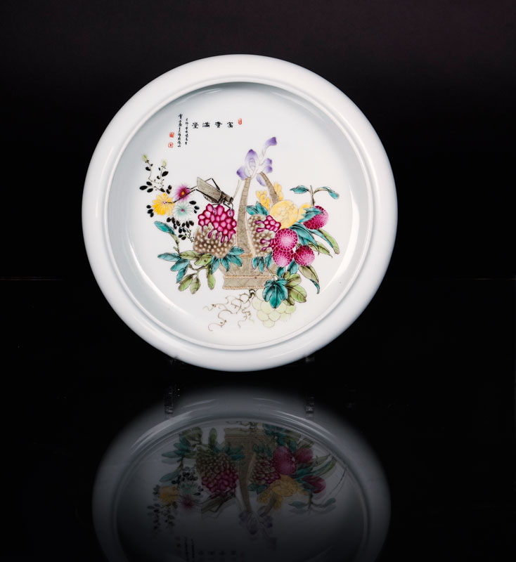 A 'jiangxi' bowl with flower basket