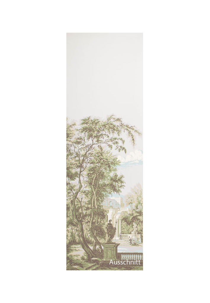 A Zuber & Cie panoramic wallpaper panel 'Terrasses Romaines'