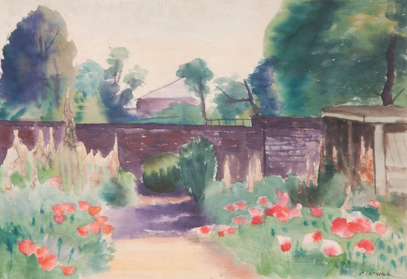 Summer Landscape with Bridge
