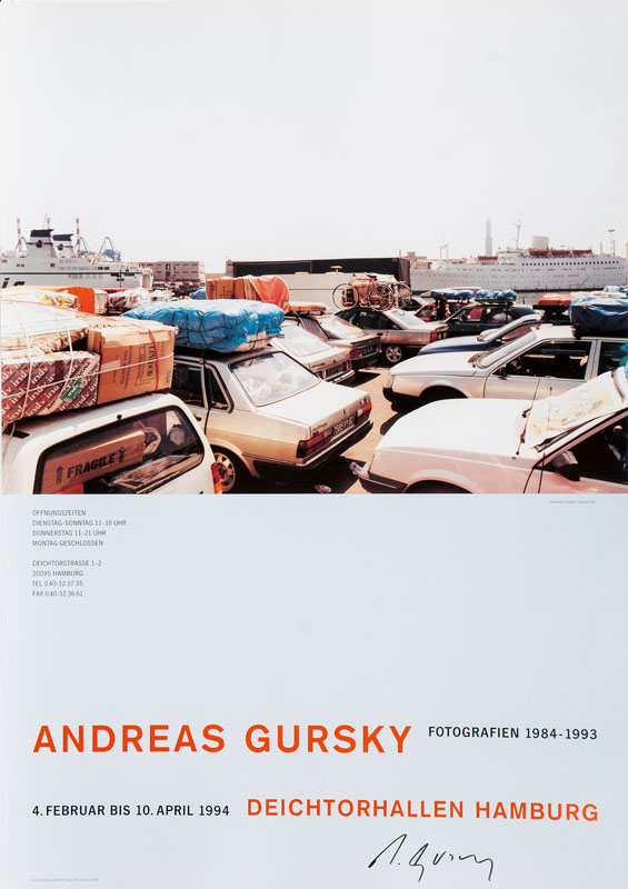 Exhibition Poster Andreas Gursky 1993