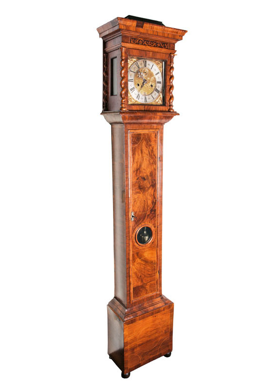 A Charles II long case clock