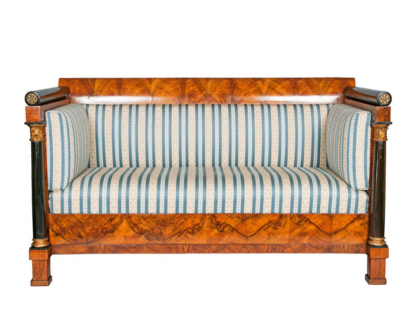 An elegant Empire settee