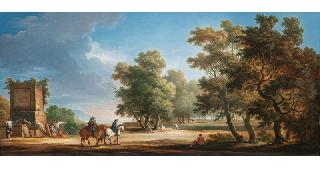 Arcadian Landscape with Horseriders