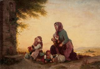 Mother and Children in Prayer