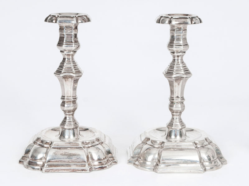 A pair of candelsticks in the Baroque style