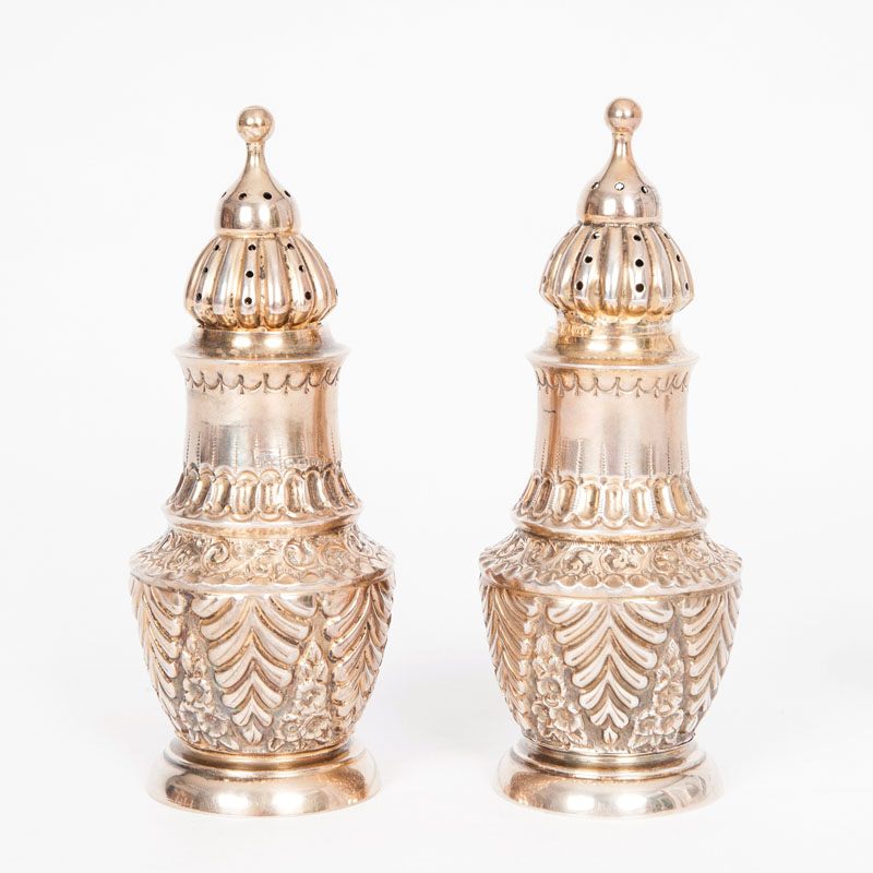 A pair of Victorian spice caster