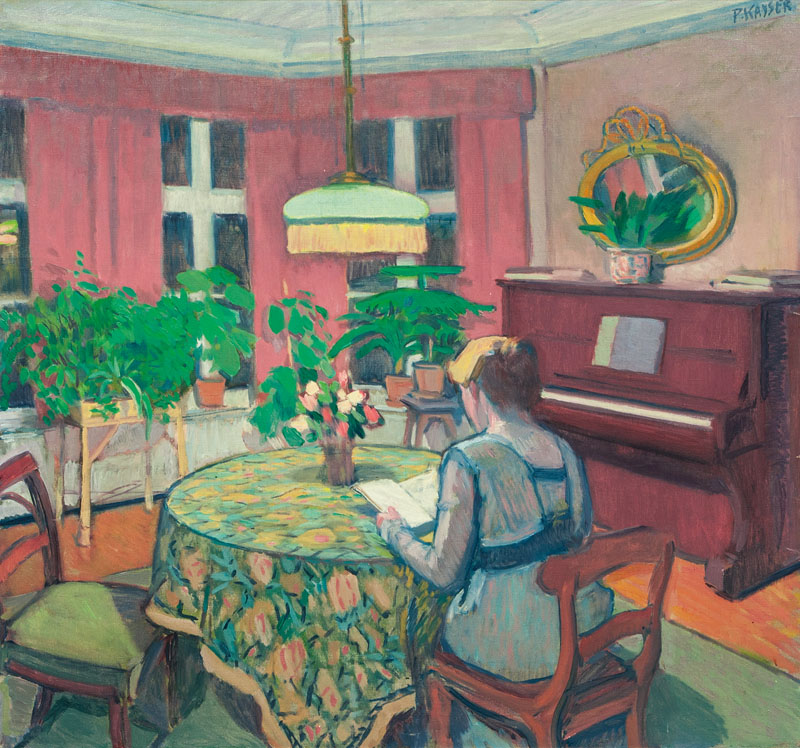 Interior with Melanie, the Artist's Wife