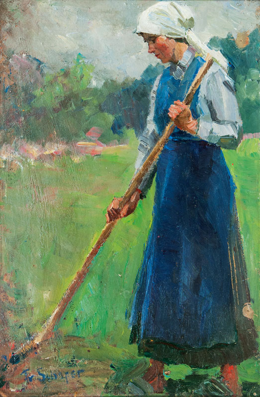 Peasant Woman with Rake