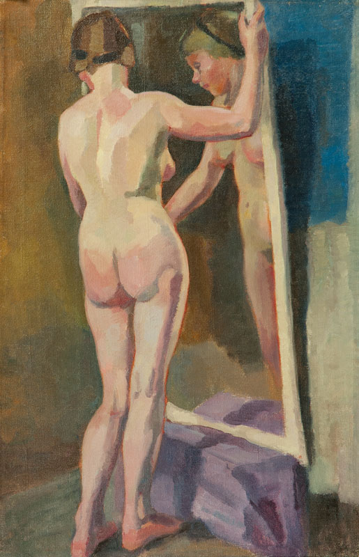 Standing Nude with a Mirror