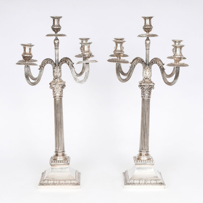 A pair candelabras of classically style
