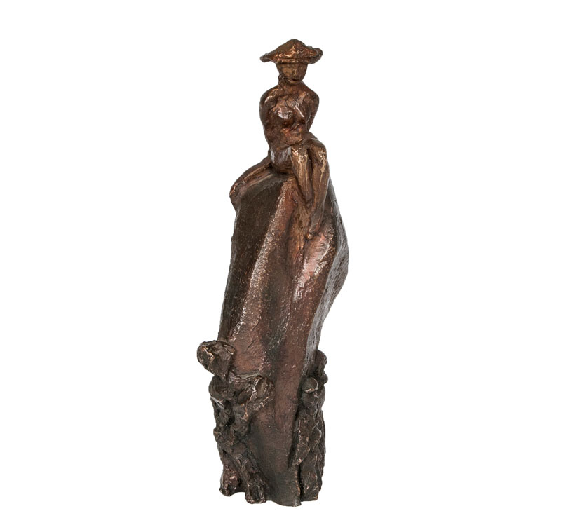 A bronze sculpture