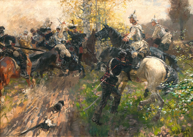 German and French Curassiers fighting