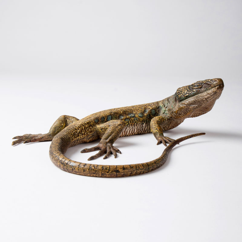 A large Vienna bronze 'green lizard'