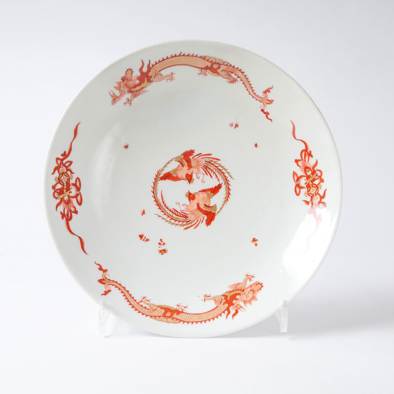 A large dish 'Red Dragon' from the 'Königliche Hof- Conditorei'