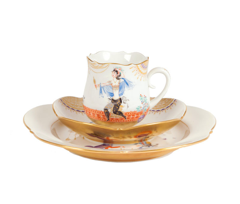 An extensive Meissen coffee-service '1001 nights' for 6 persons