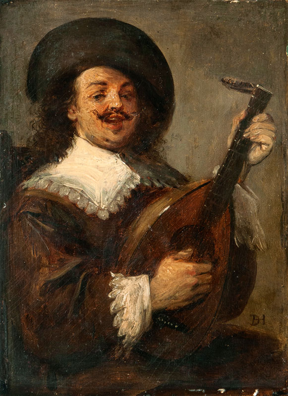 Gentleman playing a Lute