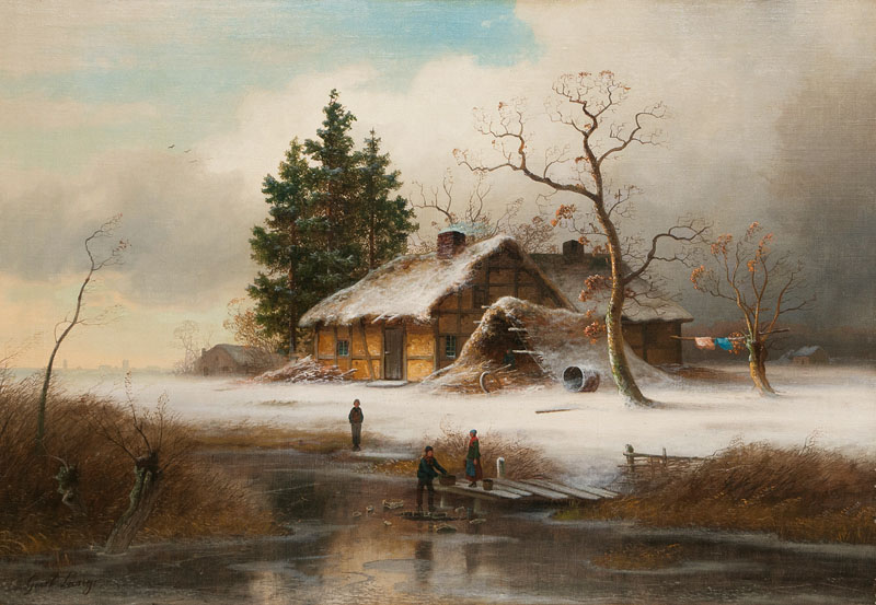 Landscape with Children by a Frozen River