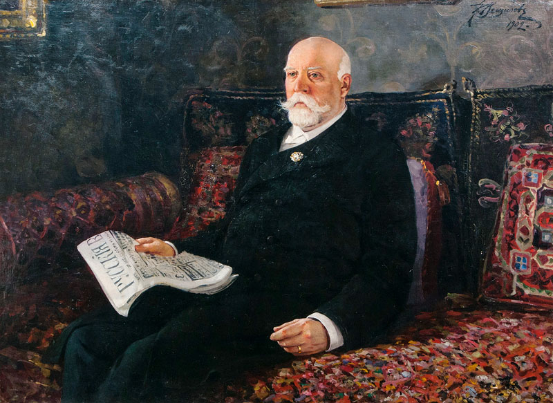 Portrait of Count Muravyov-Amursky reading a Newspaper