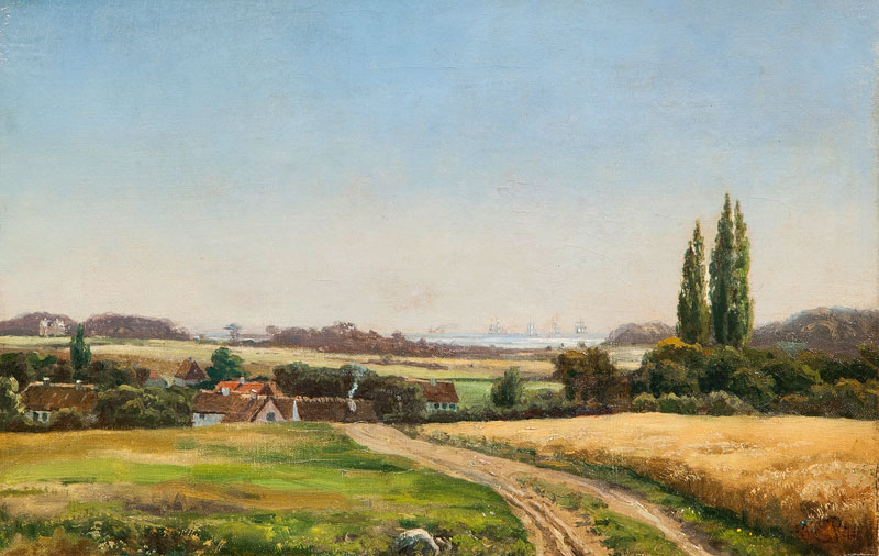 Evening Landscape with View over a Sound