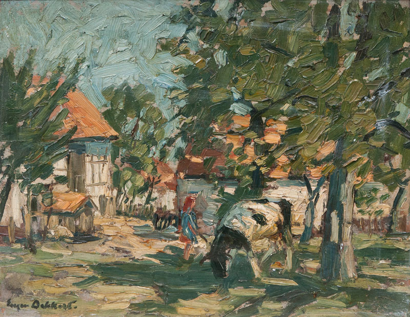 Cows in a Village