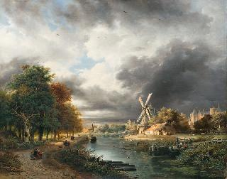 Dutch Landscape with Thunderstorm