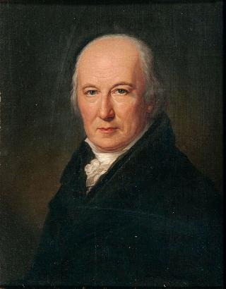 Portrait of the theater  director Friedrich Ludwig Schröder