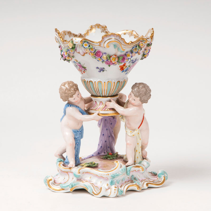 A small centrepiece with three putti